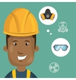 man worker equipment protection vector image