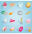 Bakery isometric set icons vector image