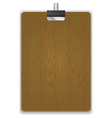 Wooded Clipboard Isolated vector image vector image
