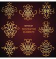 Golden decorative desigh elements vector image vector image