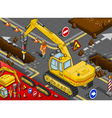 Isometric Chisel Excavator in Rear View vector image vector image