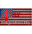 independence day of usa vector image