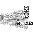 Why core fitness is important text word cloud vector image