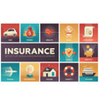 types of insurance - modern flat design vector image