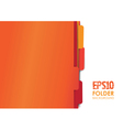 orange folders vector image vector image
