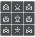Mail icons Mail search symbol Print Spam vector image