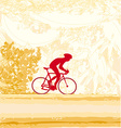 Cycling Grunge Poster Template vector image vector image