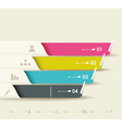 options progress banners with tags vector image