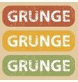 Vintage GRUNGE stamp set vector image