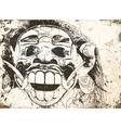 balinese mask vector image vector image