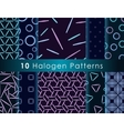 Halogen seamless pattern vector image
