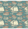 Vintage Sailing Boat Pattern vector image vector image
