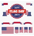 USA Flag day badge banners and ribbons vector image vector image