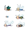Funny insect cartoon set vector image