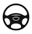 Black automobile wheel flat icon vector image