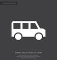 bus premium icon white on dark background vector image