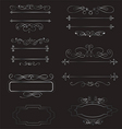 Decorative vintage borders and frames set vector image
