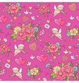 floral pattern valentine vector image
