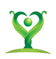 Green nature logo vector image