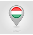 Hungary flag pin map icon vector image