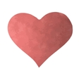 Texture red heart on a white background vector image vector image