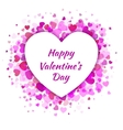 Pink Heart Valentines Day Card Background vector image