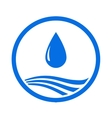 water drop and blue wave vector image