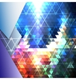 Colorful blue geometric background abstract vector image