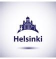 Helsinki City skyline silhouette vector image