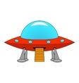 a cartoon ship UFO vector image