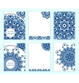Abstract backgrounds with mandalas in gzhel style vector image