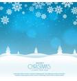 beautiful winter landscape scene for christmas vector image