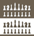 Chess pieces flat design style vector image