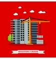 Construction site concept banner Hoisting vector image