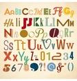 Doodle alphabet for you business presentations vector image
