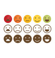 feedback emoticon set flat design vector image