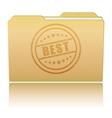Folder with Best damaged stamp vector image
