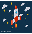 Rocket launch project startup concept vector image