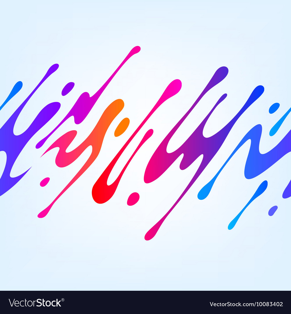 With abstract colorful shape vector