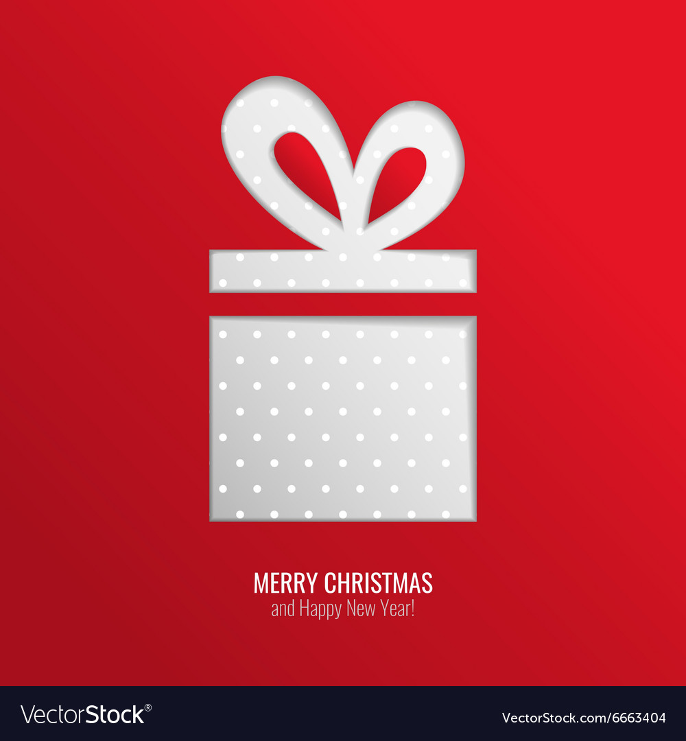 Christmas gift cut out background vector
