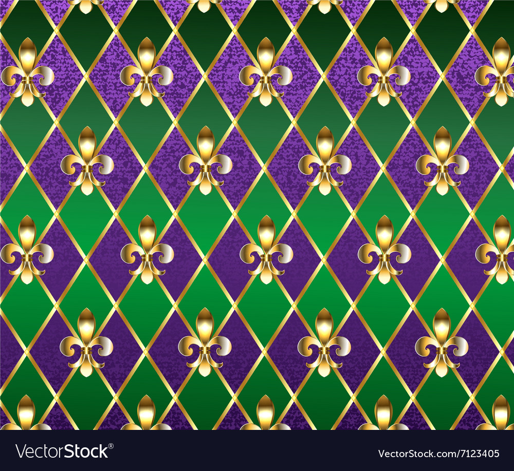 Jewelry background mardi gras vector