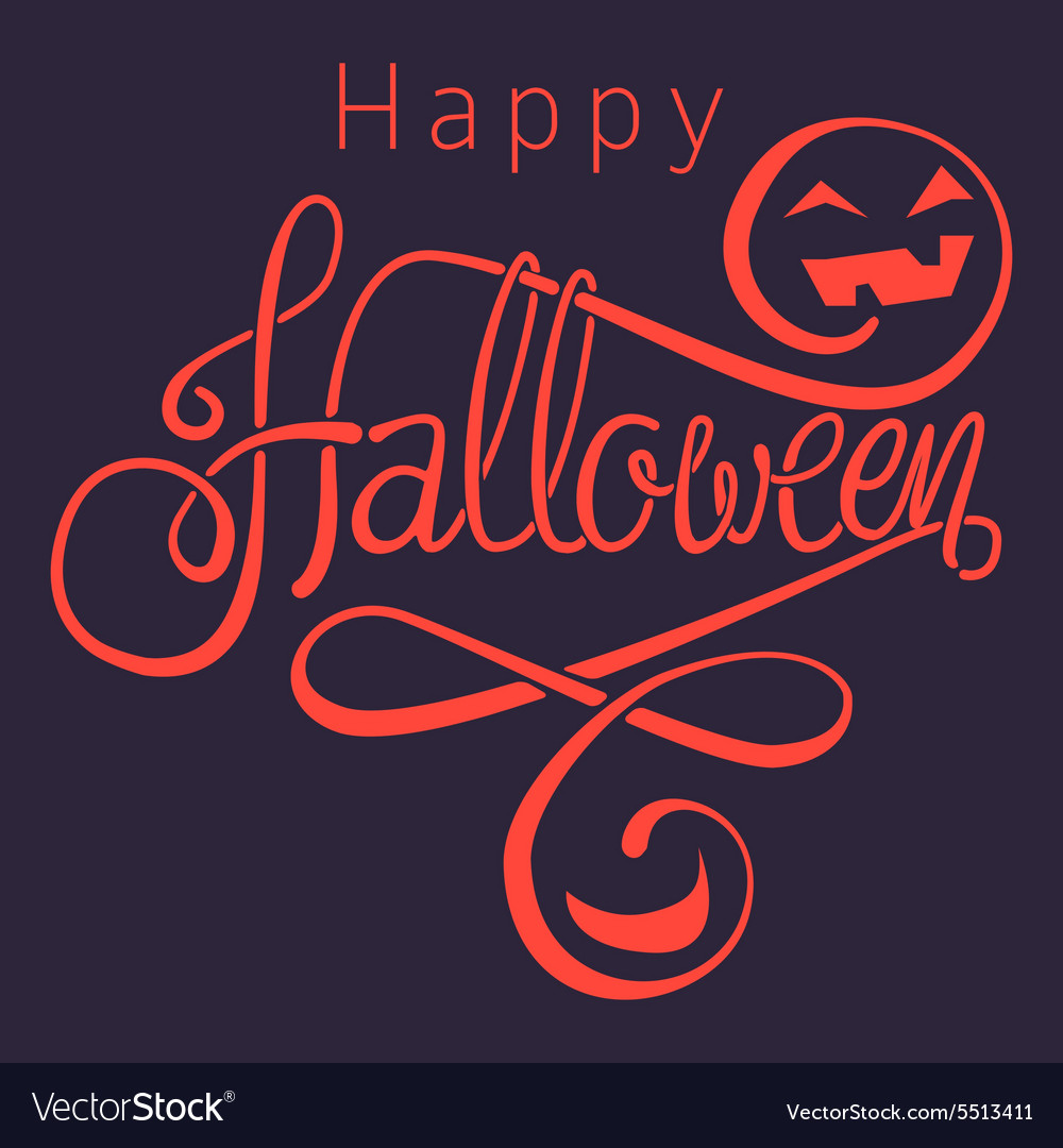 Happy halloween dark vector