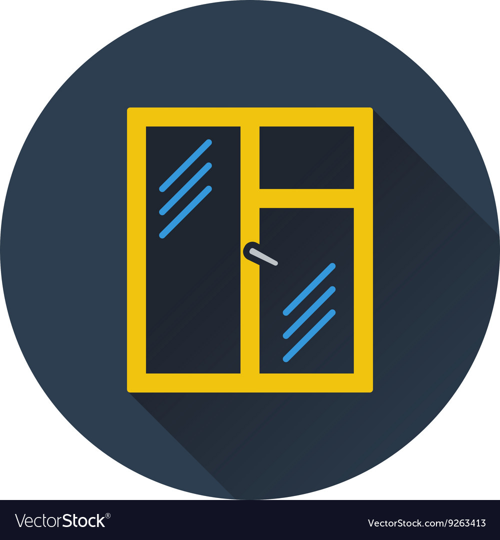 Icon of closed window frame vector