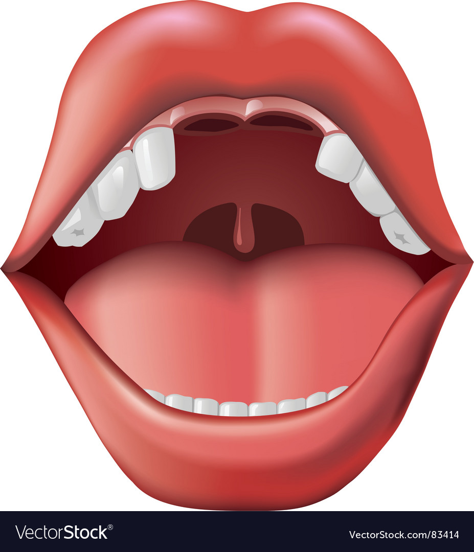 Open mouth with missing teeth vector