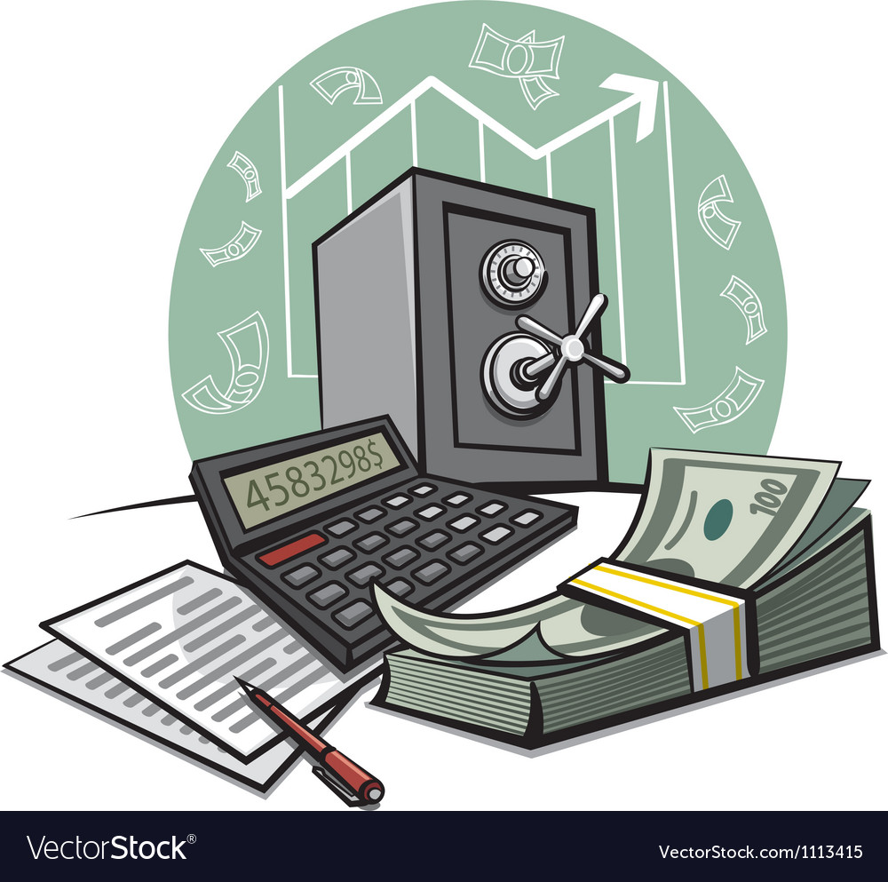 Financial accounting vector
