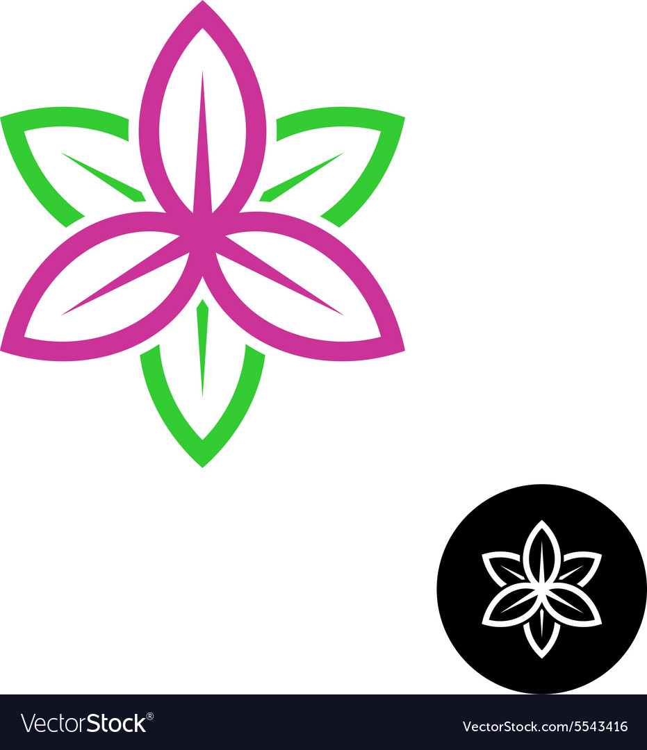 Leaves flower logo vector