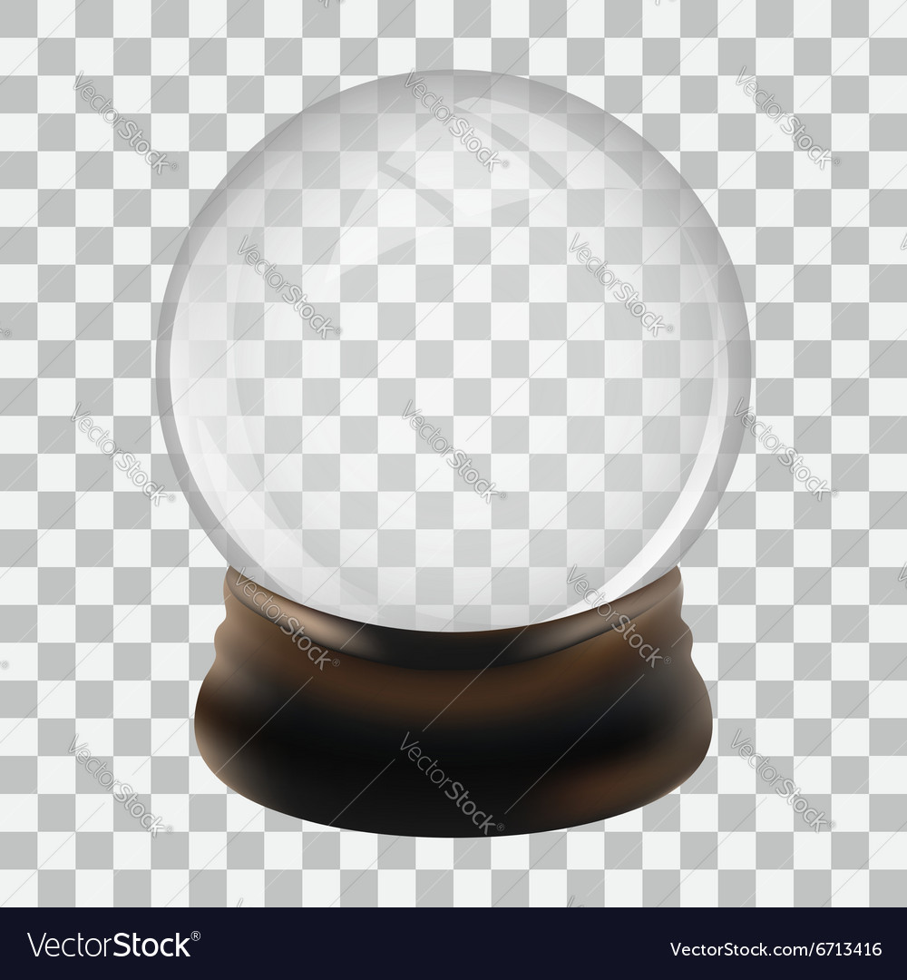 Snow globe template vector