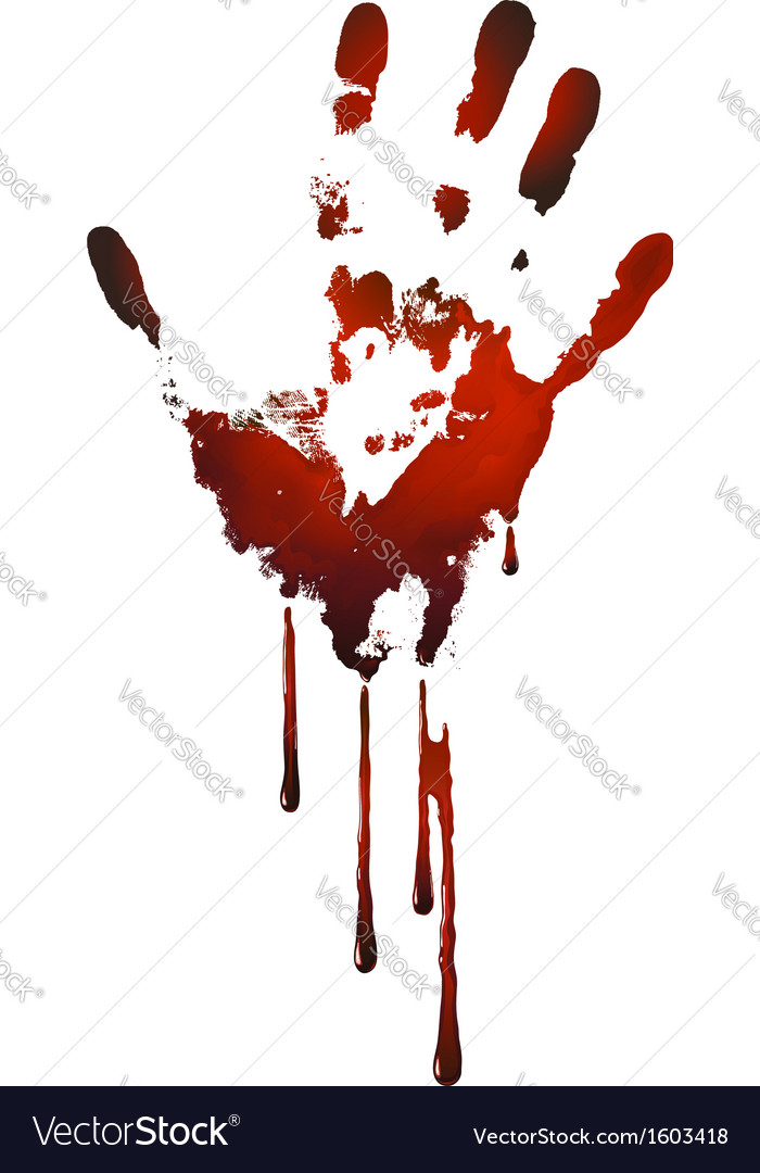 Bloody handprint vector
