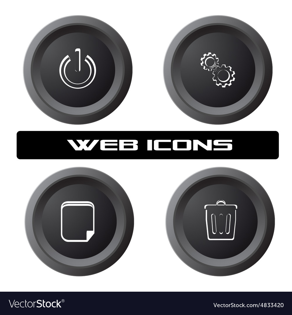 Pc icons vector