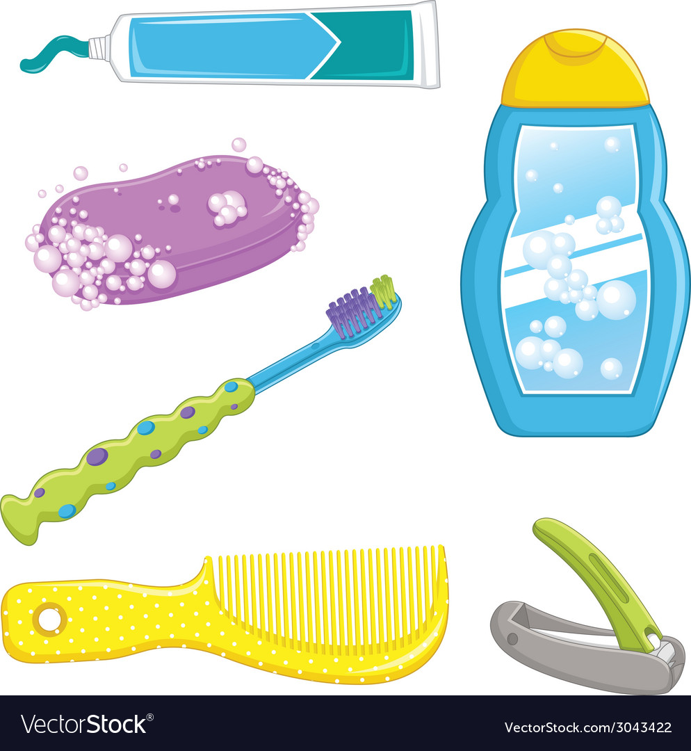 Bathroom equipments vector